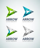 Arrow logo design made of color pieces Royalty Free Stock Photos