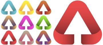 Arrow logo set. Arrow Logo design vector template set. Multicolor arrow logo Royalty Free Stock Images