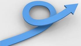 Arrow loop curve around copy space Stock Images