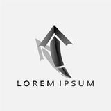 ARROW LOREM IPSUM 2017 5. The arrows are the weapons used by Apolo and Diana, the gods in mythology of Yunanani that symbolize the light that has the highest Stock Image