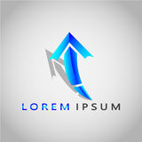 ARROW LOREM IPSUM 2017 Stock Photo