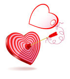 Arrow of Love greeting. Royalty Free Stock Image
