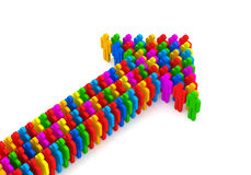 Arrow made from colorful 3d people Royalty Free Stock Photography