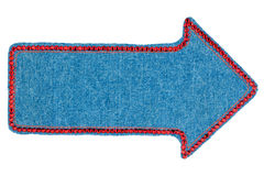 Arrow made of denim with rhinestones Stock Image