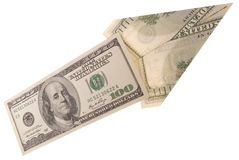 Arrow made of dollars Stock Photography