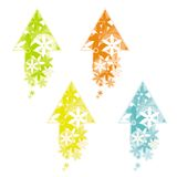 Arrow made of flowers. Arrows made of abstract flowers, created by adobe illustrator royalty free illustration