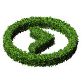 Arrow made from green leaves. 3D render. Royalty Free Stock Images