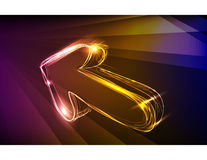 Arrow made of light collection Royalty Free Stock Photos