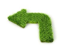 An arrow made out of a grass. 3d illustration Royalty Free Stock Photography