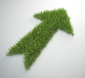 Arrow made out of a patch of grass Royalty Free Stock Photo