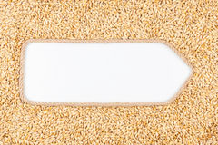 Arrow made of rope  and barley  with a white background Royalty Free Stock Image
