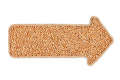 Arrow made of rope with wheat Royalty Free Stock Photo