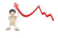 Arrow and man Stock Image