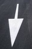Arrow marking on road Royalty Free Stock Image