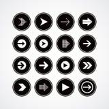 Arrow media play icon theme logotype Stock Image