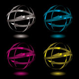 Arrow metal ball Stock Photo