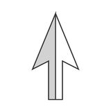 Arrow mouse pointer icon. Vector illustration design Stock Photography