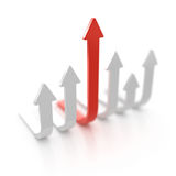 Arrow moving up Royalty Free Stock Images