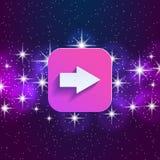 Arrow in night style UI Stock Image