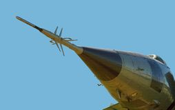 Arrow nose of military aircraft Stock Photos