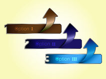 Arrow number choice. EPS 10 Vector Stock Illustration