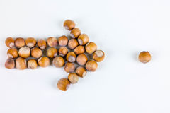 Arrow with nuts Stock Images