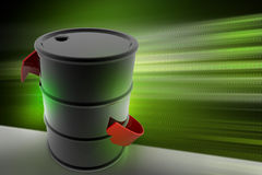 Arrow  with oil drum Stock Image