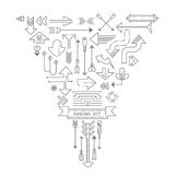 Arrow outline icons set Royalty Free Stock Photography