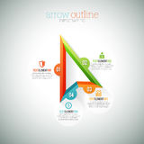 Arrow Outline Infographic Royalty Free Stock Images