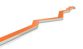 An arrow overturns the course many times. Stock Images
