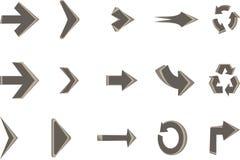 Arrow pack elegant in vector Royalty Free Stock Image