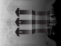 Arrow pass through abstract background. EPS 10 Vector Vector Illustration