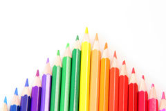 Arrow from pencils royalty free stock image