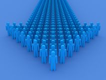 Arrow of people concept. 3D render Royalty Free Stock Photography