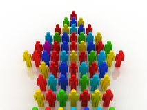 Arrow of people concept. 3D render Stock Photography