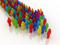 Arrow of people concept. 3D render Stock Image