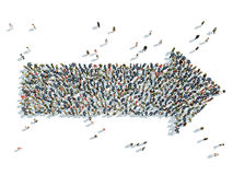 Arrow with people. Illustrate of arrow with people Royalty Free Stock Photo