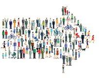 Arrow of people Stock Image