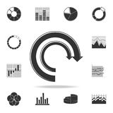 Arrow Pie Chart icon. Detailed set of Trend diagram and chart icons. Premium quality graphic design. One of the collection icons f. Or websites, web design Stock Photography