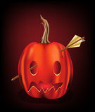 Arrow pierced Jack O Lantern Royalty Free Stock Image