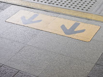 Arrow on platform Stock Photos