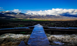 Arrow. Point of view. Rascafria. Madrid. Spain Stock Images