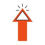 Arrow pointer isolated icon Royalty Free Stock Photo