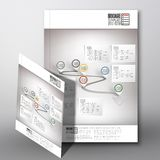 Arrow with pointer marks. Brochure, flyer or Stock Photography