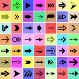 Arrow and pointer signs set Stock Images