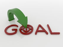 Arrow Pointer to Goal Symbol, Strategy Concept Stock Photography
