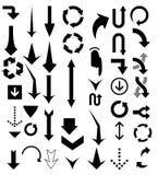 Arrow pointers vectors royalty free illustration