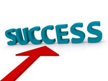 Arrow pointing to success Royalty Free Stock Images