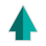 arrow pointing up icon Stock Photography