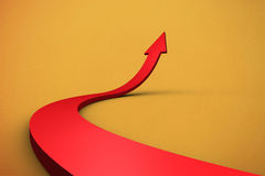 Arrow pointing up Stock Image